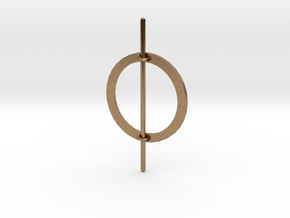 Hair Circle in Natural Brass