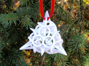 Thorn d4 Ornament in White Natural Versatile Plastic