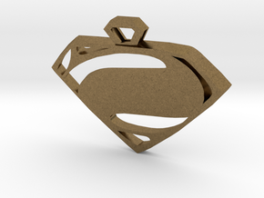 Superman Man of Steel pendant in Natural Bronze