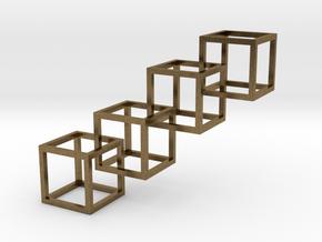 Interlocking Cube Necklace 4 in Natural Bronze (Interlocking Parts)