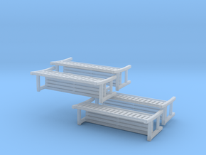 Park Bench-v2 - 1 To 200 Scale X 4 in Smooth Fine Detail Plastic