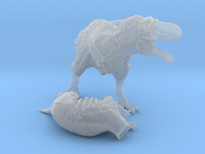 Hunting tyrannosaurus middle size in Smooth Fine Detail Plastic
