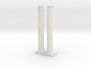 Doric Columns 5000mm high at 1:76 Scale in White Natural Versatile Plastic
