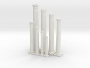 Doric Columns Basic Range  in White Natural Versatile Plastic