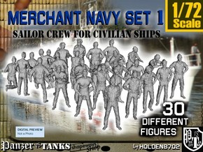 1/72 Merchant Navy Crew Set 1 in Frosted Ultra Detail