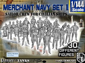 1/144 Merchant Navy Crew Set 1 in Smooth Fine Detail Plastic