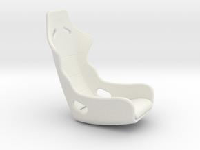 Recaro Seat 1/12 in White Strong & Flexible