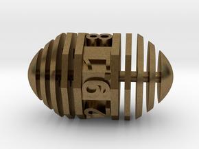 d9 Pill Interrupted in Natural Bronze