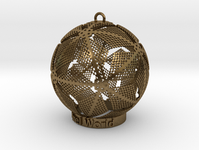 Pixel World Ornament for lighting days in Natural Bronze