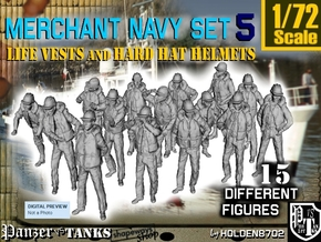 1/72 Merchant Navy Set 5 in Smooth Fine Detail Plastic
