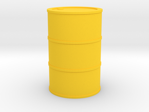 Oil Barrel 1/45 in Yellow Processed Versatile Plastic