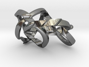 Wrap O-round Weave Five (WOW5) in Polished Silver (Interlocking Parts)