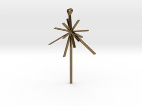 Voyager Pulsar Map Pendant in Natural Bronze