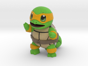 "Ninja Squirtle, 1"" figurine in Full Color Sandstone"