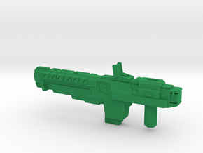 """""""VINDICATOR"""" Transformers Weapon (5mm post) in Green Strong & Flexible Polished"""