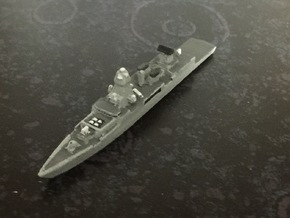 Sachsen-class frigate, 1/1800 in White Natural Versatile Plastic