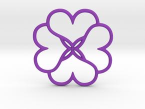 Four Leaves Of Clover in Purple Processed Versatile Plastic