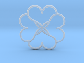 Four Leaves Of Clover in Smooth Fine Detail Plastic