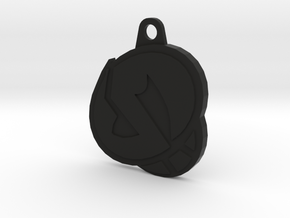 Skull Pendant  in Black Natural Versatile Plastic