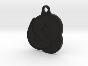 Skull Pendant  in Black Strong & Flexible