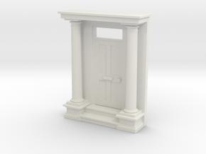 Entrance Portico 1:76mm scale in White Natural Versatile Plastic
