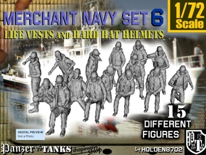 1-72 Merchant Navy Set 6 in Frosted Ultra Detail