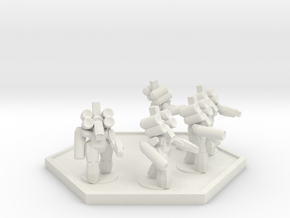 UWN Army Assault Suit Squad (Hex) in White Natural Versatile Plastic