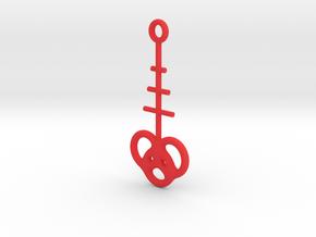 Interlocking rings earring in Red Processed Versatile Plastic