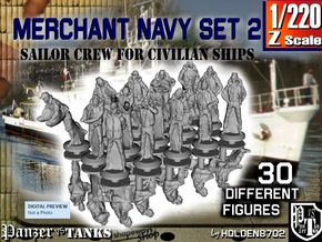 1-220 Merchant Navy Crew Set2 in Smoothest Fine Detail Plastic