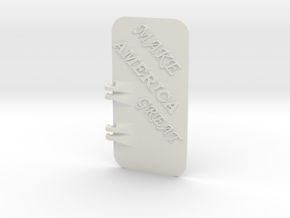 Make America Great iPhone 6S Tough Case Cover in White Natural Versatile Plastic