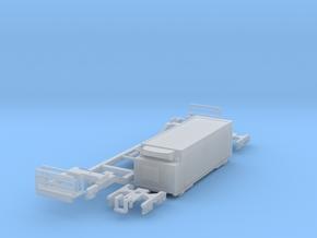 Low-floor container car w/Fridge in Smooth Fine Detail Plastic