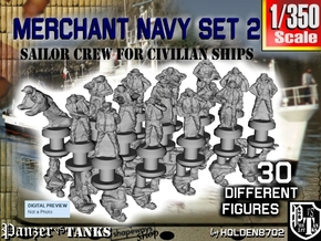 1-350 Merchant Navy Crew Set 2 in Smoothest Fine Detail Plastic