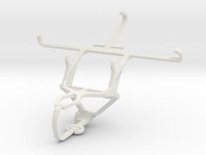 Controller mount for PS3 & vivo V3 in White Natural Versatile Plastic
