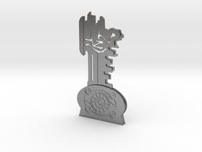 Thir13en Ghosts Brass Key Replica Prop in Natural Silver
