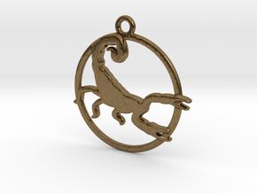 Scorpio Pendant in Natural Bronze