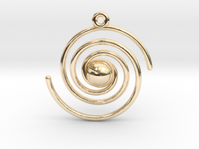 Spiral Galaxy in 14K Yellow Gold