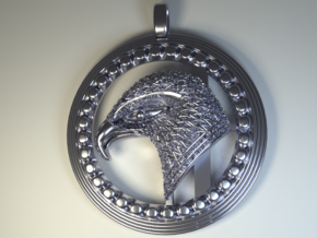 Eagle . The Thunder Bird. in Polished Silver