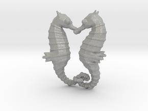 'Hippocampus Love' (Seahorse) LOVE Pendant, Charm in Aluminum