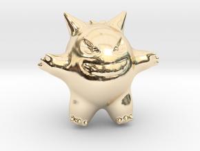 Gengar in 14k Gold Plated Brass