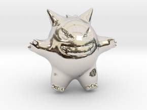 Gengar in Rhodium Plated Brass
