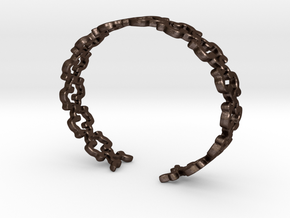Khandi bangle E Single in Matte Bronze Steel