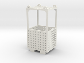 Crane Man Cage 1-87 HO Scale in White Natural Versatile Plastic: 1:87