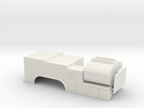 1/50th Fuel Lube tandem Axle service truck body in White Natural Versatile Plastic