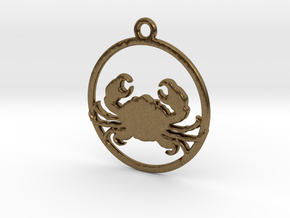 Cancer Pendant in Natural Bronze