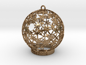 Directions Ornament for lighting in Natural Brass