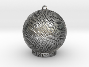 Pixel Light Of New Year in Natural Silver
