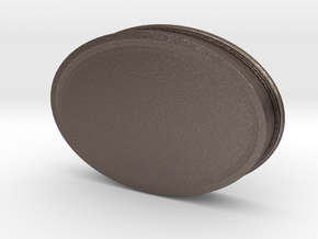 Soapdish-oval in Polished Bronzed Silver Steel