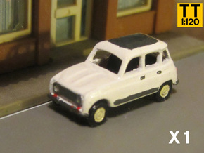 Renault 4 Hatchback 1:120 scale (Lot of 1 car) in Smooth Fine Detail Plastic