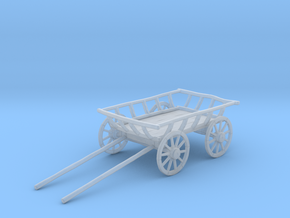 """Old Cart 40"""" Wheels in Smooth Fine Detail Plastic: 1:48"""