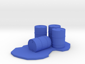 Leaking Drums with Spill, 1/64 in Blue Processed Versatile Plastic